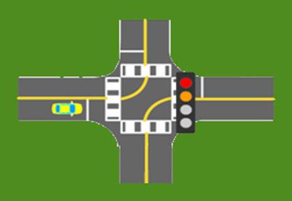 bài thi qua ngãtưcó tín hiệu giao thông