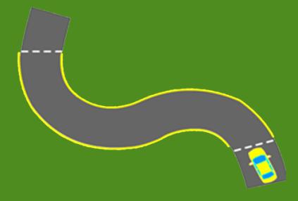 Bài thi lái xe qua đường vòng quanh co