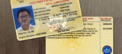 thủ tục đổi giấy phép lái xe ô tô hạng B2