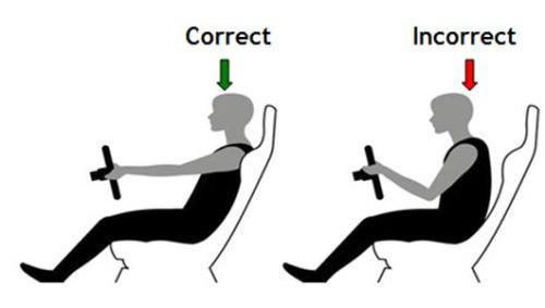 tư thế ngồi đúng khi lái xe ô tô